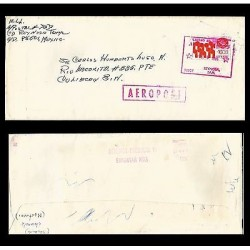 B) 1996 MEXICO, MEXICO EXPORTA STEEL PIPE, AIR MAIL, CIRCULATED COVER FROM