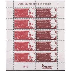 E)2005 COSTA RICA, WORLD YEAR OF PHYSICS, ALBERT EINSTEIN, MAX PLANCK, BLOCK