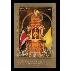 E)2007 COSTA RICA, OUR LADY OF THE ANGELS, PATRONESS OF CARTHAGE, RELIGION