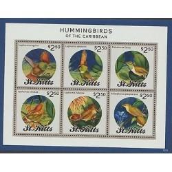O) 2015 ST. KITTS AND NEVIS, HUMMINGBIRDS - BIRDS FO THE CARIBBEAN, EXOTICS BIR