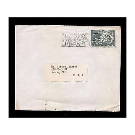 E)1954 BELGIUM, MERMAID AND MERCURY HOLDING EMBLEM, ROTARY INTERNACIONAL