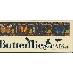 O) 2011 TANZANIA, BUTTERFLIES, SOUVENIR MNH