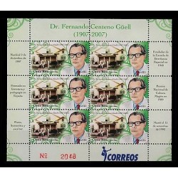 E)2008 COSTA RICA, DR FERNANDO CENTENO GÜEL, POET, HUMANIST AND WRITTEN, BLOCK