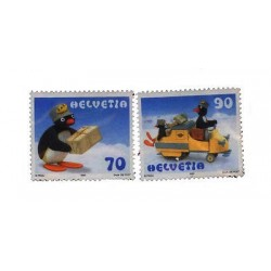 E) 2008 SWITZERLAND, PENGUINS SET, MNH