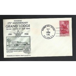 O) 1956 UNITED STATES - USA, MASONIC - GRAND LODGE, BENJAMIN FRANKLIN, FDC