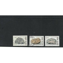 O) 1986 FINLAND, GEOLOGY - MINERALS, SET MNH WITH CTO