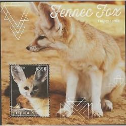 O) 2014 LIBERIA, FENNEC FOX - VULPES ZERDA, SOUVENIR MNH
