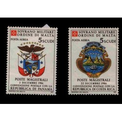E) 1986 MALTA, POSTAL CONVENTION WITH THE REPUBLIC OF PANAMA AND COSTA RICA