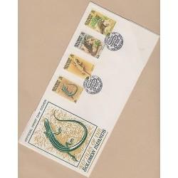 O) 1979 SOLOMON ISLANDS,REPTILE, EMOIA CYANURA, LEPIDODACTYLUS LUGUBRIS, VARANUS