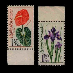 E) 1973 CZECHOSLOVAKIA, FLOWERS, PLANTS, MNH