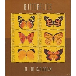 O) 2012 NEVIS, BUTTERFLIES, MINI SHEET MNH