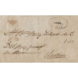 B)1896 COLOMBIA, MARK OF ANTIOCH ANORI, CIRCULATED COVER TO SANTANDER CIRCA 1800