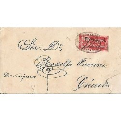 B)1835 COLOMBIA, PROVISIONAL OF SANTANDER, 50 CENTS, CIRCULATED COVER TO CUCUTA,