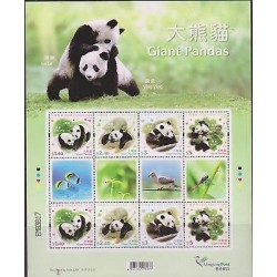 E)1996 CHINA, GIANT PANDAS, LE LE, YING YING, SOUVENIR SHEET, MNH