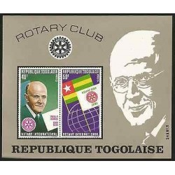 E)1972 TOGO, PAUL P. HARRIS AND ROTARY EMBLEM-FLAGS OF TOGO AND ROTARY