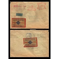 E)1945 CZHESCHOSLOVAKIA, WORLD CONGRESS OF STUDENTS IN PRAGUE, AIR MAIL