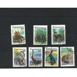 O) 1991 TANZANIA, DINOSAURS, SET MNH, CTO