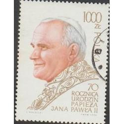 O) 1990 POLAND, POPE JOHN PAUL II - KAROL JOZEF WOJTYLA, CTO, MNH