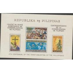 O) 1965 PHILIPPINES, CONQUEST, EVANGELISM, ROUTE MAP OF CONQUEST, SOUVENIR IMPER