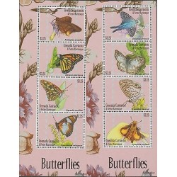 O) 2013 GRENADA, BUTTERFLIES - INSECTS, SOUVENIR MNH