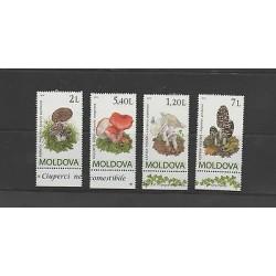 O) 2010 MOLDOVA - MOLDAVIA, MUSHROOMS, SET MNH
