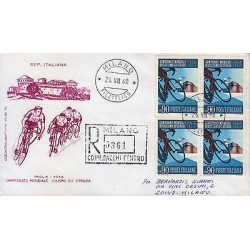 G)1968 ITALY, BICLYCLES-CASTLE, FDC CIRCULATED TO MILANO, INTERNAL USAGE, XF