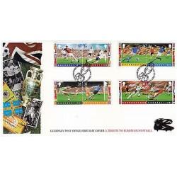 G)1996 GUERNSEY, A TRIBUTE OF EUROPEAN FOOTBALL, EUROPEAN CUP, PLAYERS-BALLS, EN