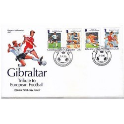 G)1992 GIBRALTAR, TRIBUTE TO EUROPEAN FOOTBALL, DENMARK & GERMANY, WEST GERMANY