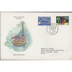 O) 1981 MALAYSIA, OIL, ENERGY PRODUCTION, PLATFORM, FDC USED TO MIAMI-