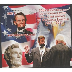 O) 2011 REPUBLIC OF MALI, EAGLE, FLAG, PRESIDENT-ABRAHAM LINCOLN, SOUVENIR MNH