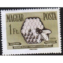 G)1958 HUNGARY, HONEYCOMB-BEE, MNH