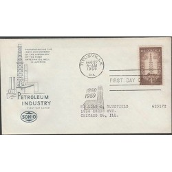 O) 1959 UNITED STATES-TITUSVILLE, OIL-PETROLEUM INDUSTRY, PLATFORM, FDC USED TO