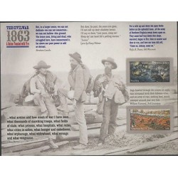O) 2013 UNITED STATES, THE CIVIL WAR OF 1863, BOAT, HORSES, SOLDIERS, STIKERS, X