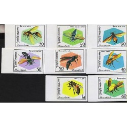 G)1982 VIETNAM, BEES AND WASPS, IMPERFORATED COMPLETE SET, MNH