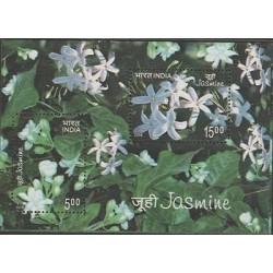 O) 2008 INDIA, FLOWER OF JASMINE, AROMA, SOUVENIR MNH