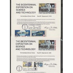 O) 1976 USA - UNITED STATES, FIRST MAN ON THE MOON, SATELLITE, PLANET, KENNEDY