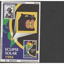 O) 1994 BOLIVIA, ASTRONOMER NICOLAS COPERNICO, HELIOCENTRIC THEORY, SOLAR ECLIPS