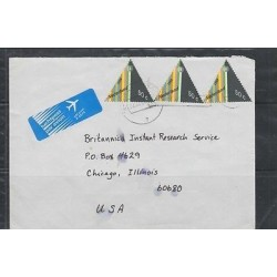 O) 1989 NETHERLANDS, CHRISTMAS, TRIANGLE,LUCHTPOST PAR AVION, AIRMAIL TO UNITED