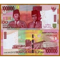rO)2012 INDONESIA,BANK NOTE, 100000 100,000 RUPIAH NEW 2011-2012 SUKARNO HATA MA