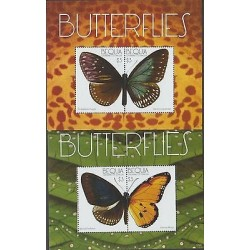 O) 2011 GRENADINES - BEQUIA, BUTTERFLIES, SOUVENIR FOR 2, MNH