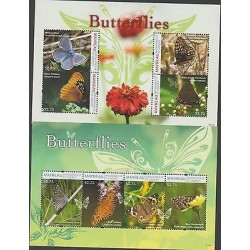 O) 2011 ST. VINCENT AND GRENADINES - MAYREAU, BUTTERFLIES - INSECTS, FLOWERS, SO