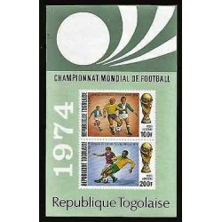 E)1974 TOGO, WORLD SOCCER CHAMPIONSHIPS, MUNICH-GERMANY, SIMULATED PERFORATIONS
