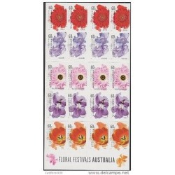 O) 2011 AUSTRALIA, FLOWERS, FESTIVAL, ADHESIVES - STICKERS, XF