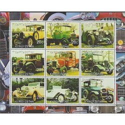 O) 2000 KYRGYZSTAN, OLD CARS, MINI SHEET MNH