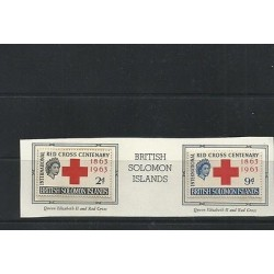 O) 1963 BRITISH SOLOMON ISLANDS, RED CROSS CENTENARY 1863 TO 1963, QUEEN ELIZA