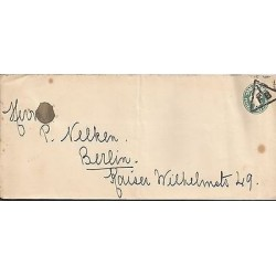 E)1912 GREAT BRITAIN, FB TRIANGLE CANC., KING EDWARD HALF PENNY POSTAL STATIONAR