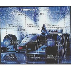 O) 2000 TURKMENISTAN, SPORT CAR - RACE CAR - FORMULA 1 - MC LARREN, SOUVENIR MN