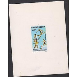 O) 1984 GABON, PROOF, OLYMPIC GAMES LOS ANGELES 1984, DEPORT OBSTACLE RACE -