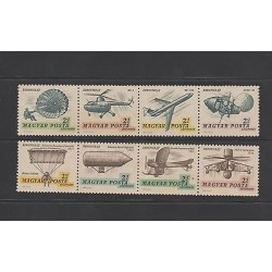 O) 1967 HUNGARY, KITE 1617, AIRPLANE 1911, HELICOPTER, 1918, ZEPPELIN 1897, SET