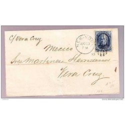 RB)1879 USA,CIRCULATED COVER TO VERACRUZ
